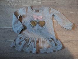 3110 LA Kleid grau meliert mit Tiger Sonnenbrille gold und Strasssteine von CLAIRE Gr. 86