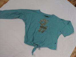 F-185 LA Shirt in petrol mit goldenem Reh -vorne zum binden von MINYMO Gr. 98
