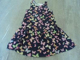 2448 Sommerkleid mit Schmetterlinge von H&M GR. 110/116