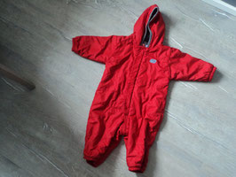 2913 Winteranzug in rot innen grauer Kuschelfleece and der Kapuze Waschpeeling vorhanden  von NIKE Gr. 80/86