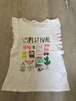 1844 Tolles Shirt Festival mit Glitzer und Applikationen von H&M  Gr.134/140