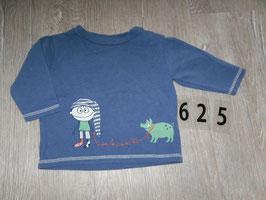 625 La Shirt blau Junge mit Wildschwein von EAT ANTS Gr. 62