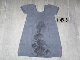 1458 Kleid grau Batik von PAMPOLINA Gr. 98