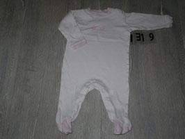 1319 Schlafi mit Fuß rosa Küken gestreift Gr. 62/68