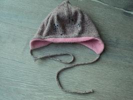 SK-32 Wintermütze rosa,grau,lila meliert -mit sternchen-innen kuscheliger Stoff von MAXIMO Gr. 45
