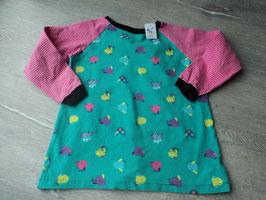 2052 Handmade Shirt bunt mit Vögel- vorne siehe Foto Fleck vorhanden Gr. 110/116