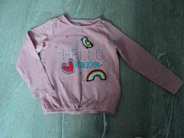 2903 LA Shirt rosa mit Applikationen die man tauschen kann Klettverschluss von VERTBAUDET Gr. 94