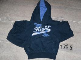1705 Kapuzen Pulli dunkel blau Flight Gr. 98