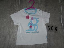 509 Shirt weiß mit Schildkröte von OBAIBI Gr. 67