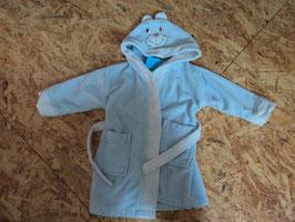 879 Bademantel hellblau  Bärenkapuze  mit Ohren von BABYCLUB Gr. 80/86