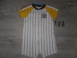 112 Sommerspieler Baseball von Carters Gr. 6-9 Monate