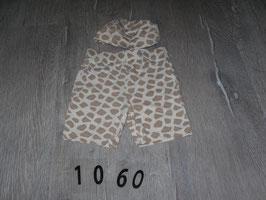 1060 Set Shorts und Mütze Giraffe Gr. 68/74