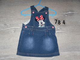 784 Schönes Latzkleid mit Minnie Mouse Gr. 74