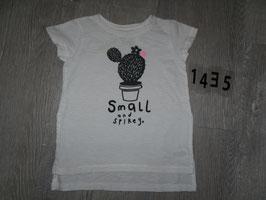 1435 Shirt weiß mit Kaktus von NEXT Gr. 80