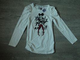 3172 LA Shirt mit Girl und Tüllschleife , geraffte Ärmel und geraffte Seiten unten , Gürtelschlaufen vorhanden von C&A