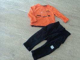 M-48 Set LA Shirt Orange mit Biber und dunkel blauer Shorts von S'OLIVER Gr. 68