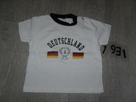 """1931 Shirt weiß """"Deutschland"""" von C&A Gr. 80"""