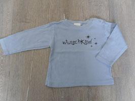 """1977 LA Shirt hellblau """"WUNSCHKIND"""" Gr. 86/92"""