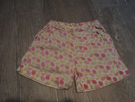 2750 Kurze Shorts rosa gelb mit Erdbeeren von TOPOLINO Gr. 92