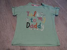 2826 Shirt pastell mint silber talk to my Daddy von BABY CLUB Gr.80