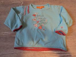 3119 LA Shirt blau mit Schleife , glitzer von STACCATO Gr. 68