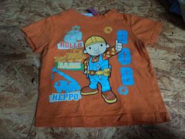 AL-195 Shirt in orange mit Bob der Baumeister Gr. 92