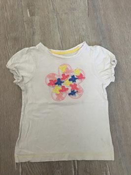 1796 Shirt mit aufgenähten Blumenapplikationen von OSHKOSH Gr. 4T=104