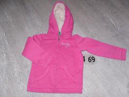 469 Kapuzensweatjacke pink von BENETTN Gr. 100