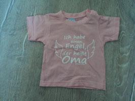 2250 Shirt rosa Ich habe einen Engel der heißt Oma von ANNA&PHILIP Gr. 56/62