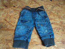 AL-36 Jeans mit Bünchen blau/braun von TOPOMINI Gr. 74