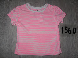 1560 Shirt neon pink weiß gestreift von EARLY DAYS Gr. 68