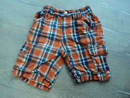 P-57 Short karriert orange,blau,weiß  Gr. 110