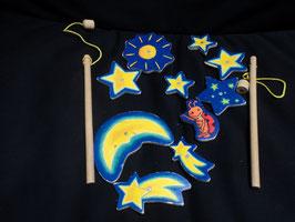 AL-150 Angelspiel aus Holz Mond und Sterne
