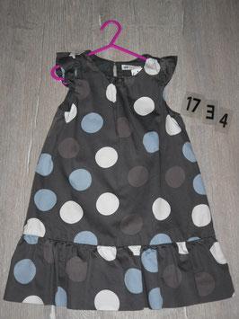 1734 Kleid braun mit Punkten von  H&M Gr. 110