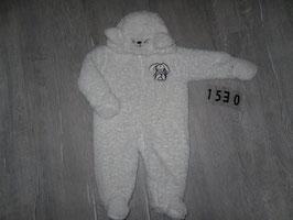 1530 Winteranzug Teddy weiß mit Hase von KLITZEKLEIN Gr. 62