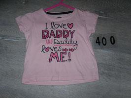 "400 Shirt rosa ""I Love Daddy"" Gr. 80"