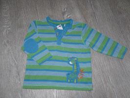 622 LA Shirt türkis grün gestreift Giraffe von S'OLIVER Gr. 62