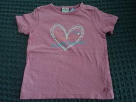 F-122 Shirt rosa Herz -Glitzer *Ich bin kein Knuddeltierchen*  von S'OLIVER Gr. 86