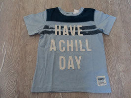 2503 Shirt blau *Have a chill Day* von H&M Gr. 98/104