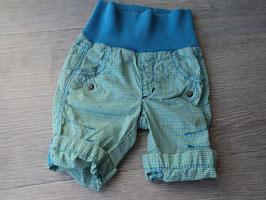 V-95 Kurze Shorts grün/blau karriert mit Bündchen von S'OLIVER Gr. 50/56
