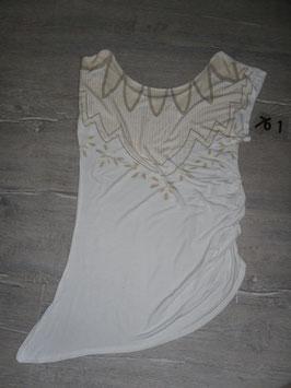 761 Umstandslong Shirt weiß beige von Mama Liciuos Gr. M