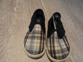 2853 Sommer Sneakers dunkel blau karriert von BOBBIE SHOES Gr. 21