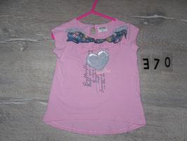 370 Tolles Shirt in rosa mit Herz Pailetten von KANZ Gr. 98