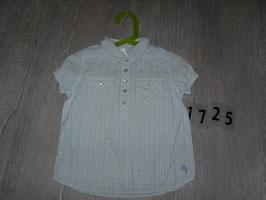 1725 Bluse karriert hellblau weiß schwarz Mädchen H&M  Gr. 98