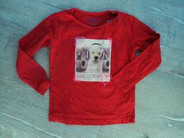 SS-29 LA Shirt rot mit Hund pinken Pailletten von TOM TAILOR Gr. 104/110