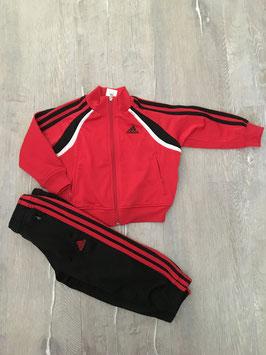 1793 Jogginganzug schwarz rot weiß von ADIDAS Gr. 92