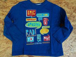 103  LA Shirt in marine blau mit coolen Applis von REBEL Gr. 98
