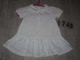 1740 Schickes weißes Kleid mit Kragen von H&M  Gr. 80