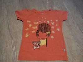 2775 Shirt alt rose mit Mädchen und Katze glitzer von NAME IT Gr. 98