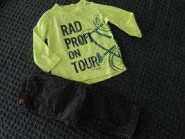 M-92 Set LA Shirt neon gelb mit Radprofi und passender Hose in dunkelgrau von STACCATO Gr. 74